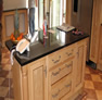 bespoke kitchen design york black-table