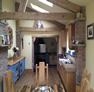 blue and oak kitchen wakefield